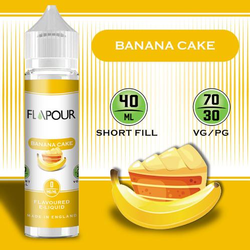 Flapour Banana Cake Shortfill E-Liquids, Shortfill, MTL Shortfills