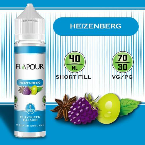 Flapour Heisenberg E-Liquids, Shortfill, MTL Shortfills