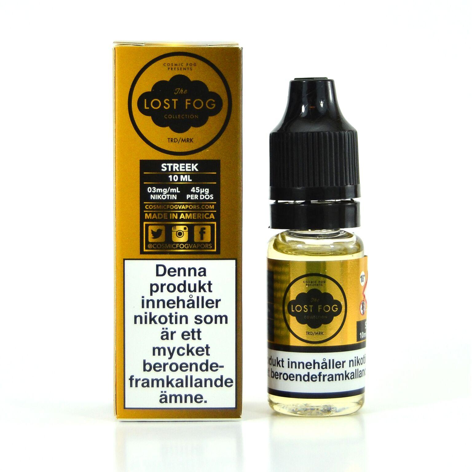 Lost Fog Streek e-juice with nicotine