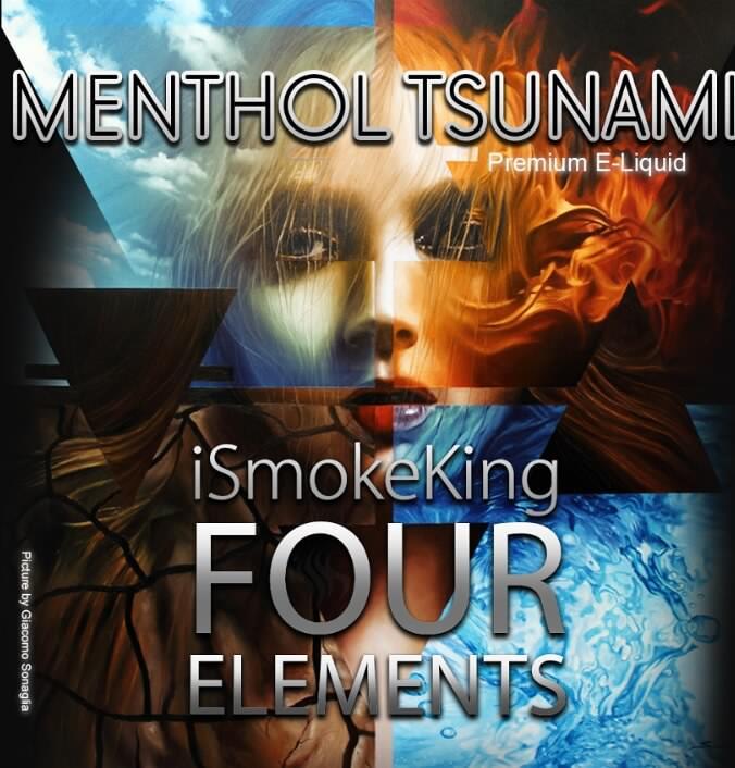 four elements e-liquids menthol tsunami