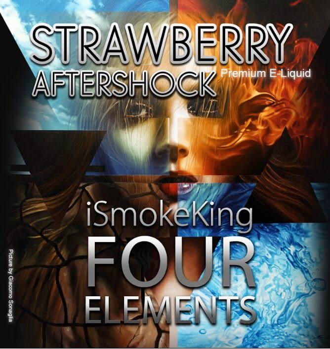 four elements e-liquids strawberry aftershock