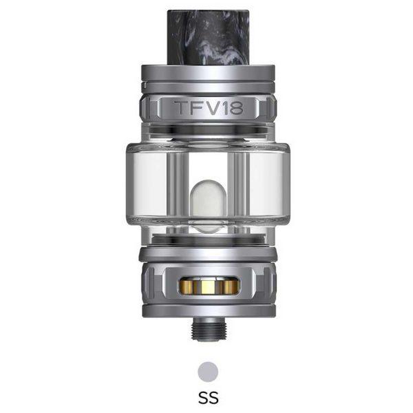 SMOK TFV18 Sub Ohm Tank Stainless Steel Silver