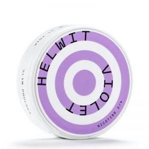 Helwit tobaksfria nikotinpåsar med viol-smak