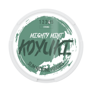 KOYUKI's All White Nikotinpåsar - MIGHTY MINT (Stark) tobaksfri snus