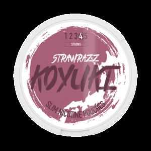 KOYUKI's All White Nikotinpåsar - STRAWRAZZ (Stark) tobaksfri snus